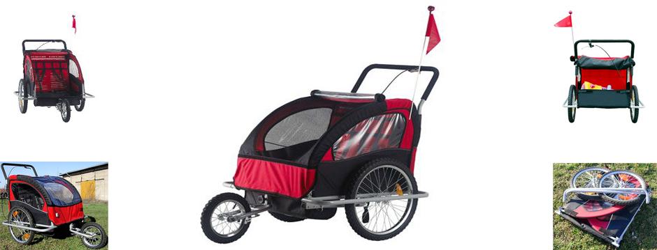 Remolque bici - Jogger para 2 niños
